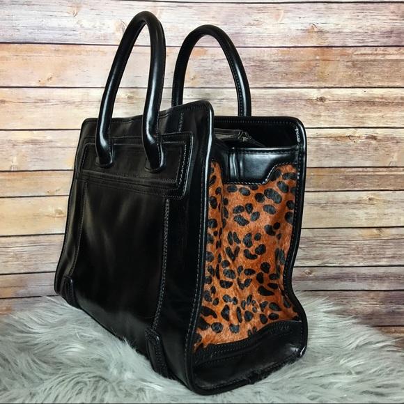 04d3c953ac ZARA Black Animal Print Fur Tote Bag 💼. M 5b0f4fa71dffda124a66628d
